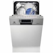 Dishwasher Electrolux ESI4500LOX built-in portion 9 sets 6 programs, 45 cm, Class A +