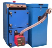 Boiler with pellet burner automatically PelletStar