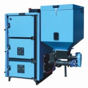 Boiler system powered by wood pellets, biomass and MCL BIO