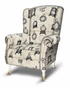Armchair Clock Kara black, gray