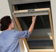 Outside Velux blinds