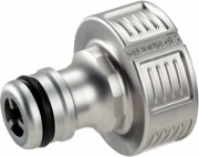 Premium hose connector Gardena design of valve metal for the screw 26.5 mm (3/4 G ') 18 241