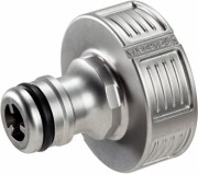 Premium hose connector Gardena design of valve metal for the screw 33.3 mm (G 1 ') 18 242
