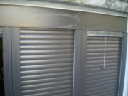 Aluminum shutters with insect nets stacked