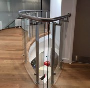 Handrails with glass, offered by the company DDM Fab Ltd