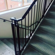 Metal stairs with handrails, offered by the company DDM Fab Ltd