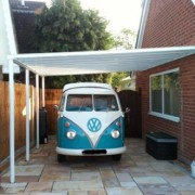 3.0 m Wide Evolution Roof Canopy System 16 mm Polycarbonate