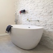 Pure White marble panel 15 x 60cm